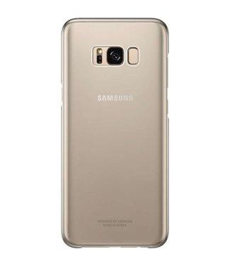 GSM Westland Samsung Galaxy S8 Plus Clear Cover (Gold) - EF-QG955CF