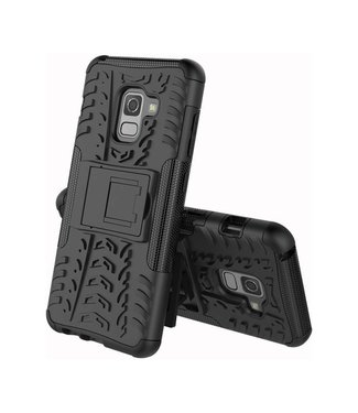 Just in Case Just in Case Rugged Hybrid  Samsung Galaxy A8 2018 Case (Black)