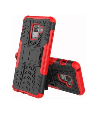 Just in Case Just in Case Rugged Hybrid  Samsung Galaxy A8 2018 Case (Red)
