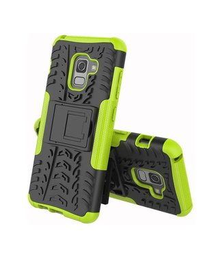 Just in Case Just in Case Rugged Hybrid  Samsung Galaxy A8 2018 Case (Green)