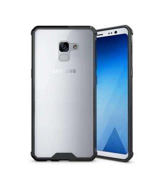 Just in Case Samsung Galaxy A8 Plus (2018) Premium Clear case - Black