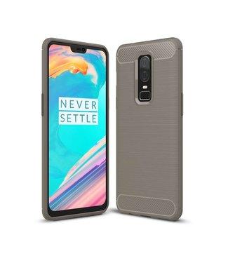 Just in Case Just in Case Rugged TPU OnePlus 6 Case (Grey)