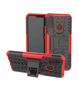 Just in Case Just in Case Rugged Hybrid Huawei P Smart Plus Case (Red)