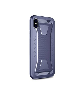 Ipaky IPAKY Phantom Rhombus Series Soft TPU Case Apple iPhone Xs / X - Blue