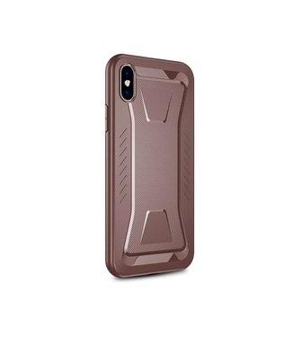 Ipaky IPAKY Phantom Rhombus Series Soft TPU Case Apple iPhone Xs / X - Brown