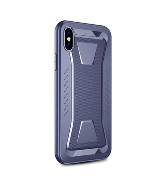 Ipaky IPAKY Phantom Rhombus Series Soft TPU Case Apple iPhone Xs Max - Blue
