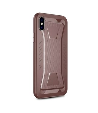 Ipaky IPAKY Phantom Rhombus Series Soft TPU Case Apple iPhone Xs Max - Brown
