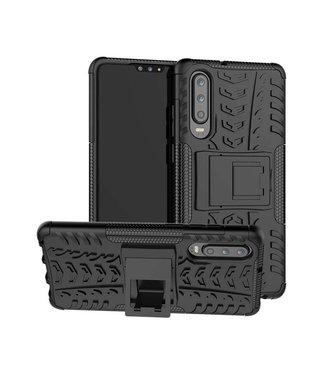 Just in Case Just in Case Rugged Hybrid Huawei P30 Case (Black)