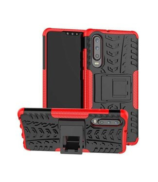 Just in Case Just in Case Rugged Hybrid Huawei P30 Case (Red)