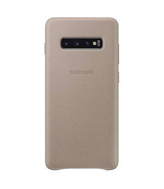 GSM Westland Samsung Galaxy Galaxy S10 Plus Leather Cover (Gray) - EF-VG975LJ