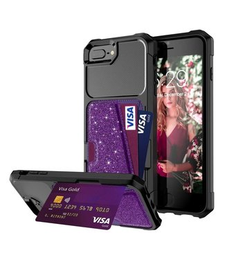 Just in Case Just in Case Hybrid Card Holder Case Apple iPhone 8/7/6S/6 Plus - Purple