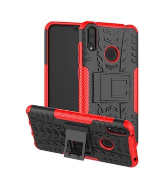 Just in Case Just in Case Rugged Hybrid Huawei Y7 2019 Case (Red)