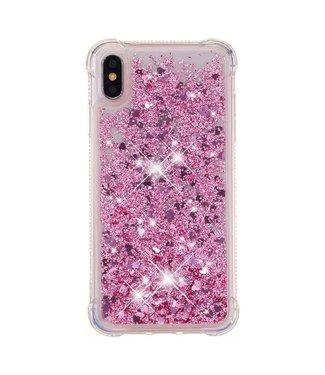 Just in Case Just in Case Apple iPhone XS Max Glitter Soft TPU case (Red)