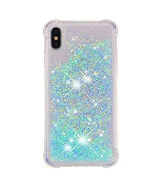 Just in Case Just in Case Apple iPhone XS Max Glitter Soft TPU case (Cyan)