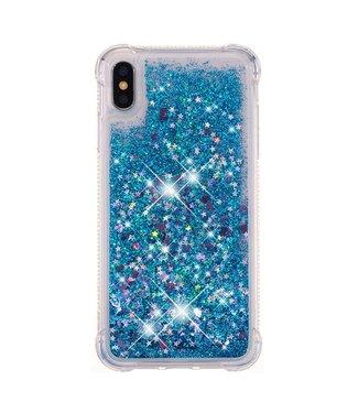 Just in Case Just in Case Apple iPhone XS Max Glitter Soft TPU case (Blue)