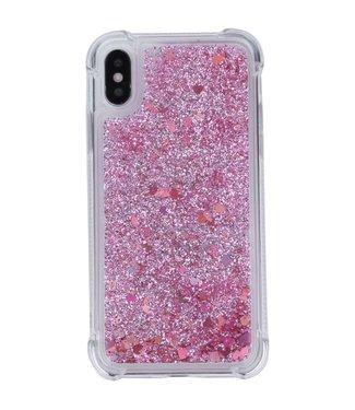 Just in Case Just in Case Apple iPhone X/XS Glitter Soft TPU case (Red)