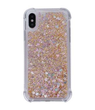 Just in Case Just in Case Apple iPhone X/XS Glitter Soft TPU case (Gold)