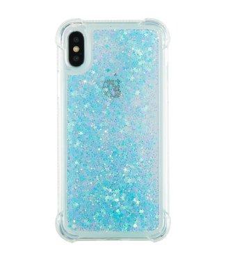 Just in Case Just in Case Apple iPhone X/XS Glitter Soft TPU case (Cyan)