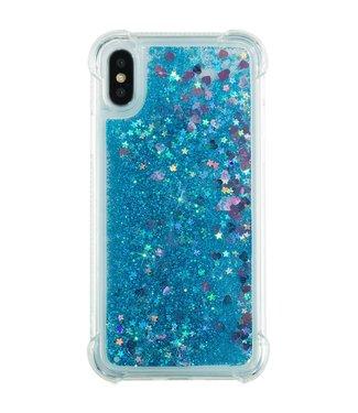 Just in Case Just in Case Apple iPhone X/XS Glitter Soft TPU case (Blue)