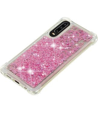 Just in Case Just in Case Huawei P30 Glitter Soft TPU case (Red)