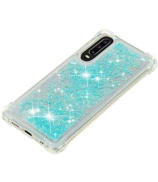 Just in Case Just in Case Huawei P30 Glitter Soft TPU case (Cyan)
