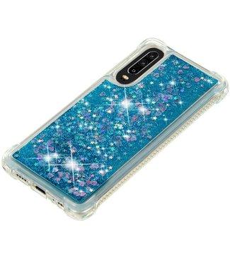 Just in Case Just in Case Huawei P30 Glitter Soft TPU case (Blue)