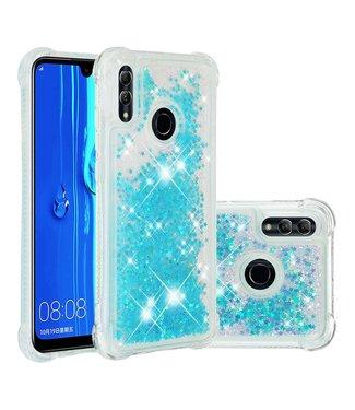 Just in Case Just in Case Huawei P Smart 2019 Glitter Soft TPU case (Cyan)