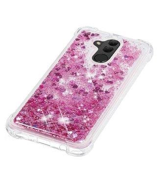 Just in Case Just in Case Huawei Mate 20 Lite Glitter Soft TPU case (Red)
