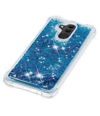 Just in Case Just in Case Huawei Mate 20 Lite Glitter Soft TPU case (Blue)
