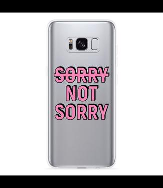 Just in Case Galaxy S8 Hoesje Sorry not Sorry