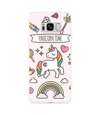 Just in Case Galaxy S8 Hoesje Unicorn Time
