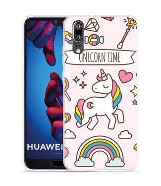 Just in Case Huawei P20 Hoesje Unicorn Time