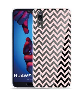 Just in Case Huawei P20 Hoesje Wavy Pink