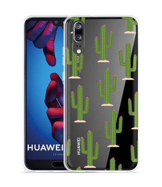 Just in Case Huawei P20 Hoesje Cactus