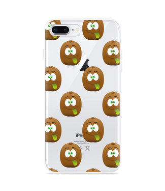 Just in Case iPhone 8 Plus Hoesje Crazy Kiwi