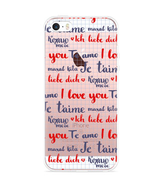 Just in Case iPhone 5/5S/SE Hoesje I Love you