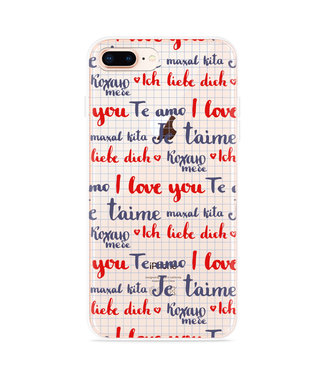 Just in Case iPhone 8 Plus Hoesje I Love you
