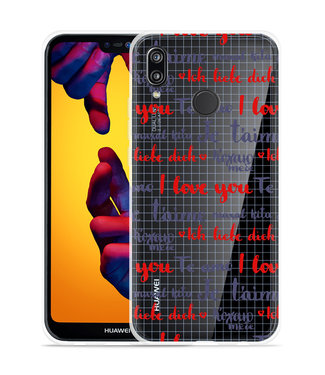 Just in Case Huawei P20 Lite Hoesje I Love you