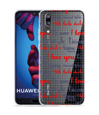 Just in Case Huawei P20 Hoesje I Love you