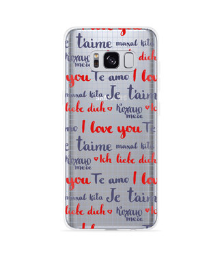 Just in Case Galaxy S8 Hoesje I Love you