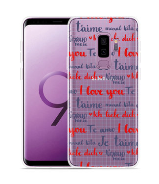 Just in Case Galaxy S9 Plus Hoesje I Love you
