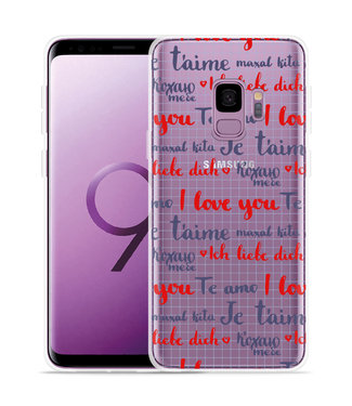 Just in Case Galaxy S9 Hoesje I Love you