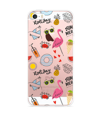 Just in Case iPhone 5/5S/SE Hoesje Summer Flamingo