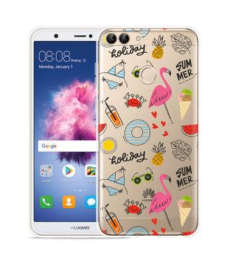 Just in Case Huawei P Smart Hoesje Summer Flamingo