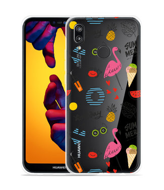 Just in Case Huawei P20 Lite Hoesje Summer Flamingo