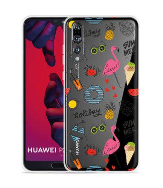 Just in Case Huawei P20 Pro Hoesje Summer Flamingo