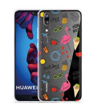 Just in Case Huawei P20 Hoesje Summer Flamingo