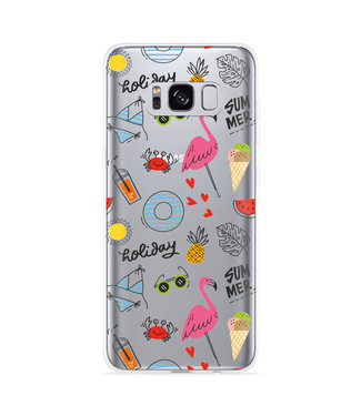 Just in Case Galaxy S8 Hoesje Summer Flamingo