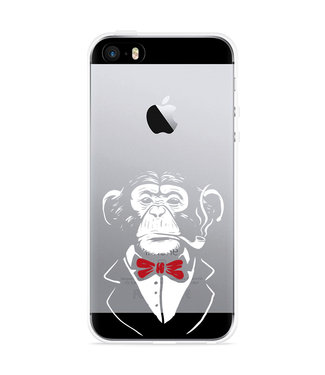 Just in Case iPhone 5/5S/SE Hoesje Chimp Smoking
