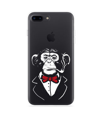 Just in Case iPhone 7 Plus Hoesje Chimp Smoking